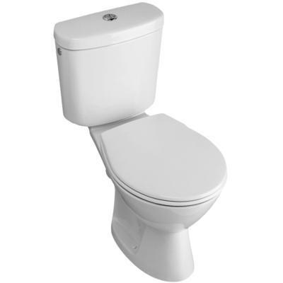 GUSTAVSBERG Saval kombiklozet WC s nádržkou, horizontálny odpad, biela