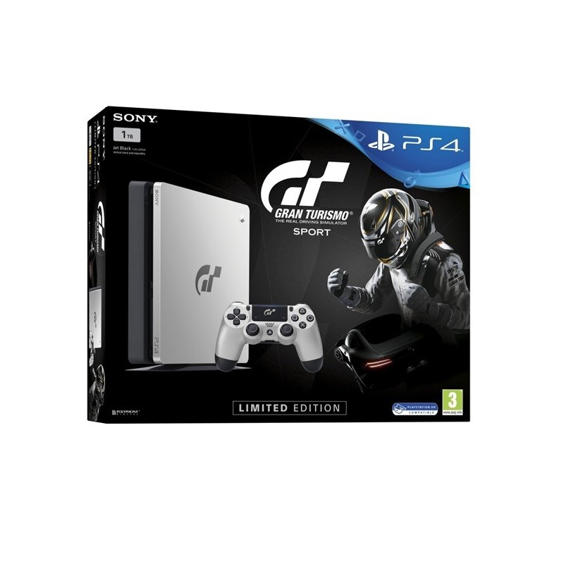 SONY PlayStation PS4 1TB Silver + Grand Turismo Limited konzola